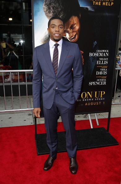 Chadwick Boseman at the GetUpNewYorkPremiere