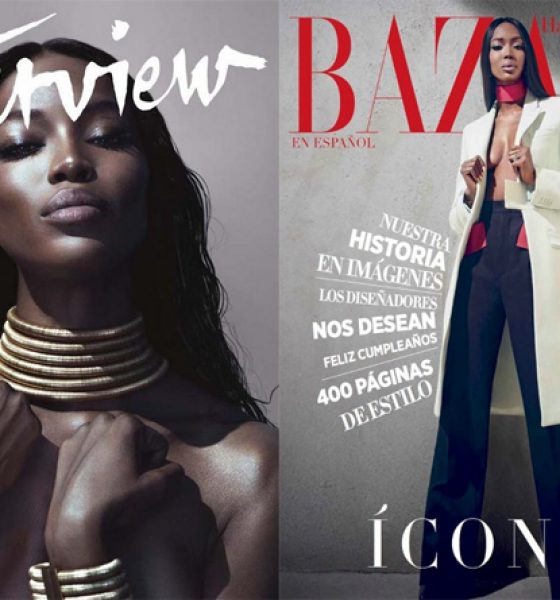 Double Exposure: Naomi Campbell Covers both Interview Magazine and Harper's Bazaar for September