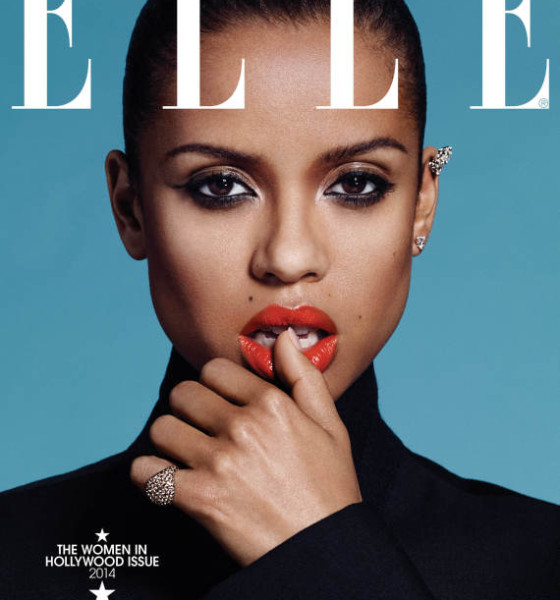 Gugu Mbatha-Raw on the cover of Elle Magazine