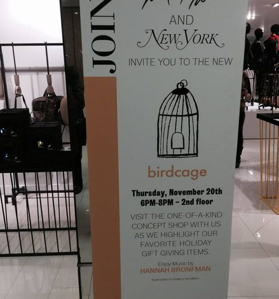 "The ""Birdcage"" Sings At Lord & Taylor"