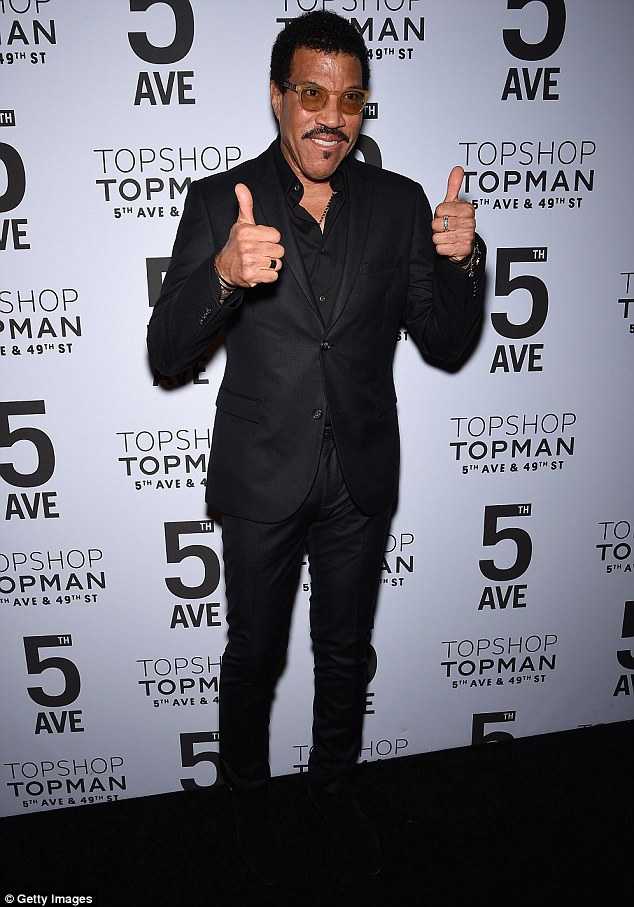 Lionel Richie at Topshop Bash NYC