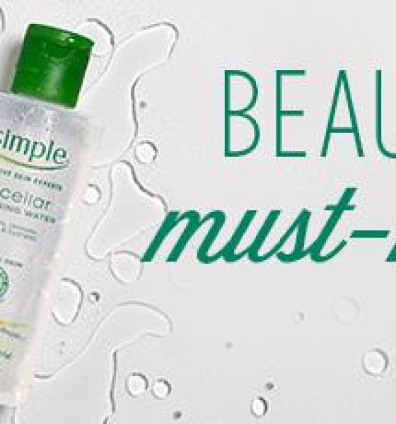Replenish Skin with Simple's Miscellar Cleansing Water