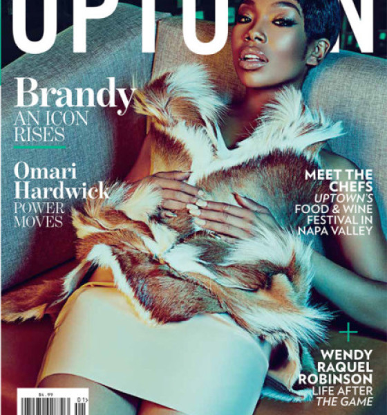 Brandy on the Cover of Uptown Magazine