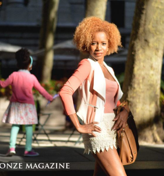 """Bronze Girl"" NYC Street Style Fashion"