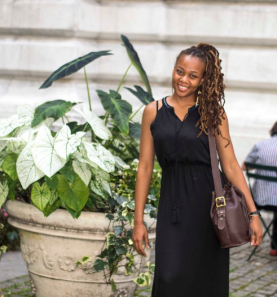 """Bronze Girl"" NYC Street Style Fashion"