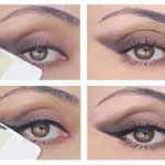 Eye makeup tape trick