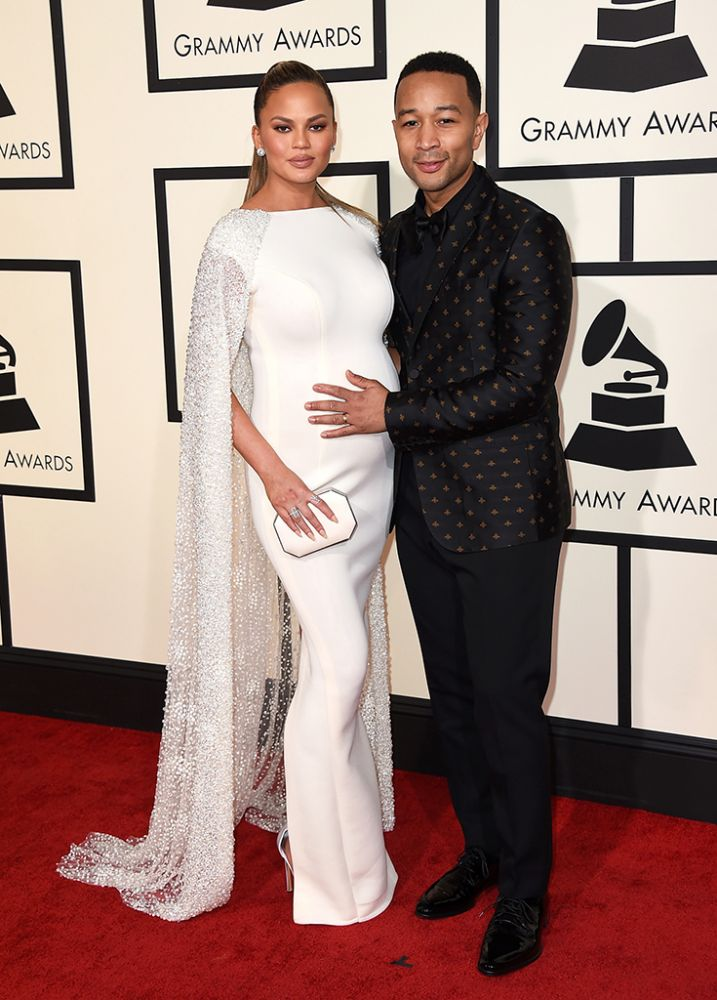 Chrissy Teigen and hubby John Legend- Grammys 2016