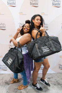 Amber Riley and Jordin Sparks having fun at the My Black is Beautiful booth at Essence Festival 2016 resized
