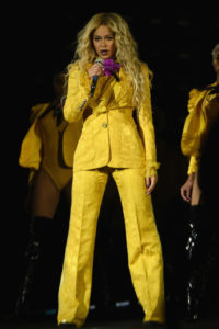 """Entertainer Beyonce performs on stage during closing night of """"The Formation World Tour"""" at MetLife Stadium on October 7, 2016 in East Rutherford, New Jersey."""