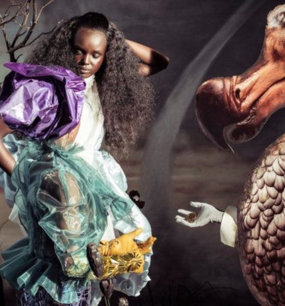 ALICE IN WONDERLAND REIMAGINED WITH A BLACK CAST FOR PERILLI 2018 CALENDAR