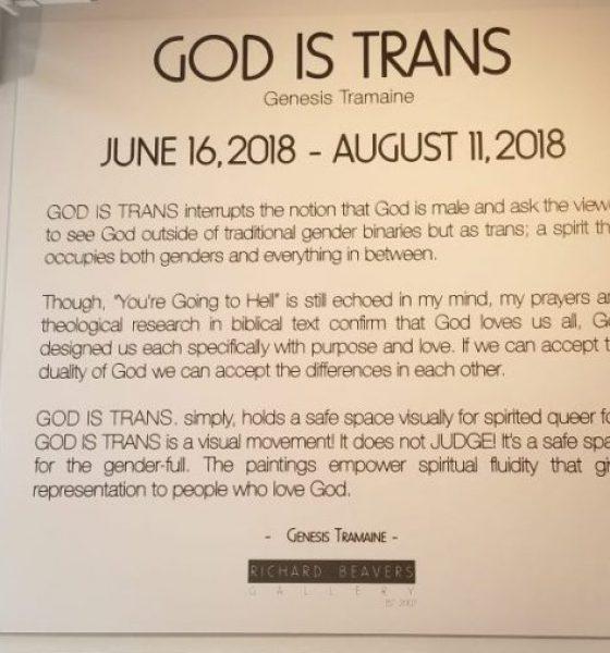 "Genesis Tramaine's ""God Is Trans"" Art Exhibition"